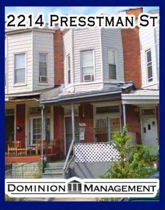 2214 Presstman St, Baltimore, MD 21216