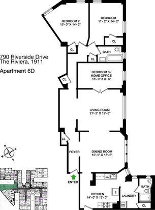 790 Riverside Dr APT 6D, New York, NY 10032