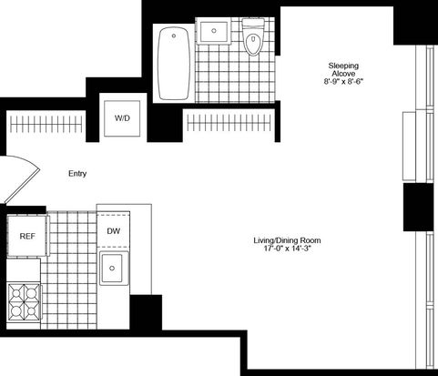 405 Main St APT 10D, New York, NY 10044