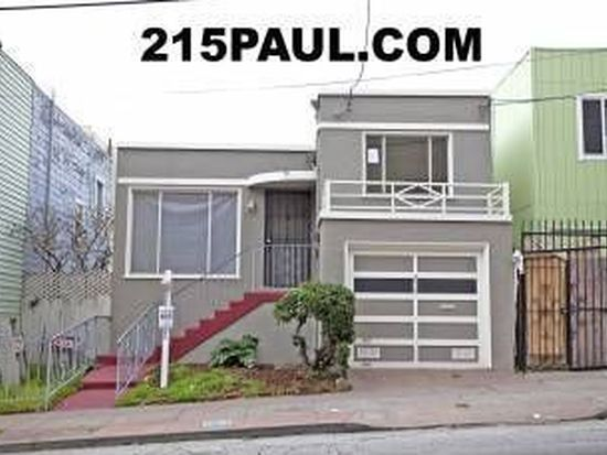 215 Paul Ave, San Francisco, CA 94124