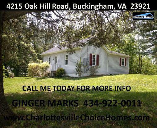 4215 Oak Hill Rd, Buckingham, VA 23921