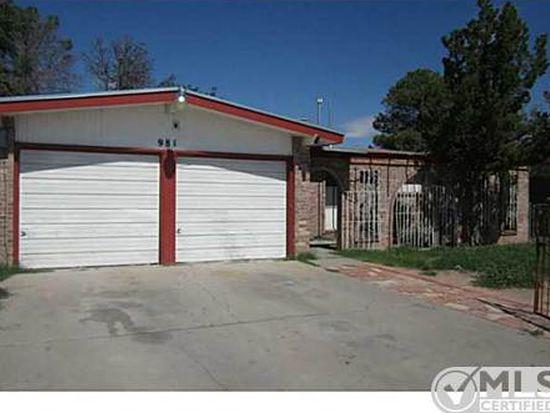 981 Warwick Rd, El Paso, TX 79907