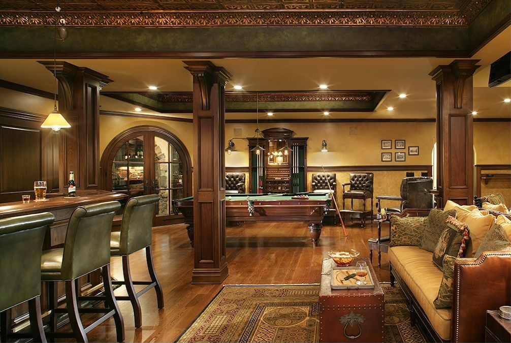 garage rec room ideas - Rustic Game Room by Carisa Mahnken Design Guild