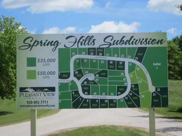 null bed null bath Vacant Land at  0 Spring Hills Greenbush, WI, 53026 is for sale at 50k - 1 of 9