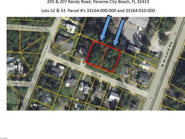 null bed null bath Vacant Land at 205-207 Randy Rd Panama City Beach, FL, 32413 is for sale at 120k - google static map