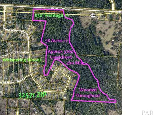 null bed null bath Vacant Land at 56ACRES Berryhill Rd Pace, FL, 32571 is for sale at 175k - 1 of 5
