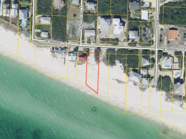 null bed null bath Vacant Land at 185 Pompano St Panama City Beach, FL, 32461 is for sale at 2.95m - google static map