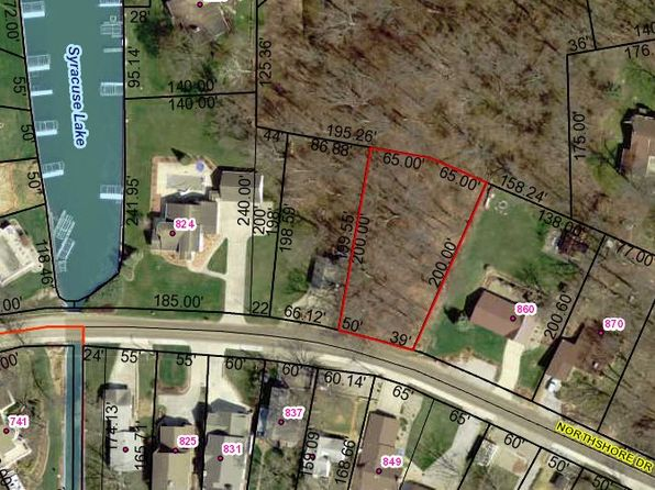 null bed null bath Vacant Land at  Tbd Northshore Syracuse, IN, 46567 is for sale at 53k - google static map