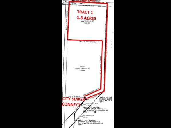 null bed null bath Vacant Land at 1.8 Acres W Shores Ave Rogers, AR, 72758 is for sale at 145k - 1 of 2