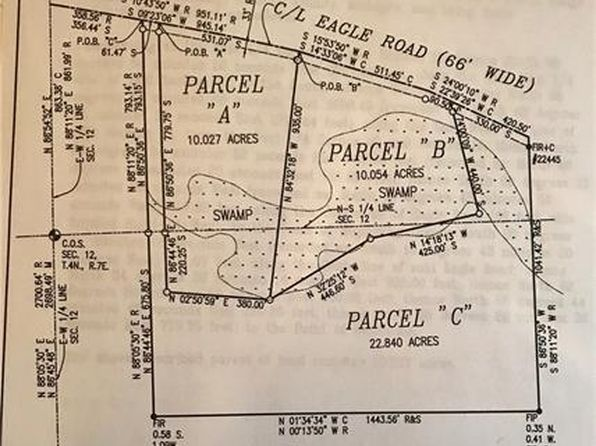 null bed null bath Vacant Land at  Parcel B Eagle Rd Rose Twp, MI, 48442 is for sale at 70k - google static map