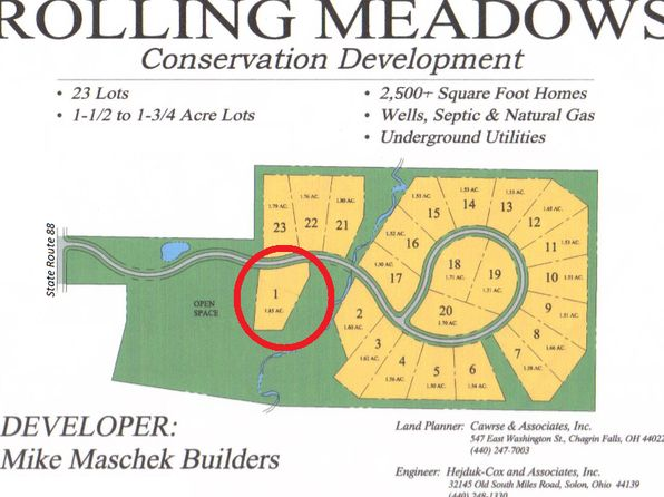 null bed null bath Vacant Land at  Rolling Meadows Dr Garrettsville, OH, 44231 is for sale at 72k - 1 of 14