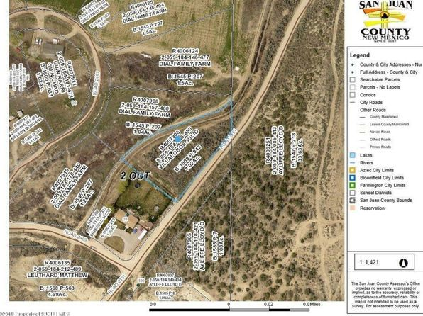 null bed null bath Vacant Land at XX Road 2391 Aztec, NM, 87410 is for sale at 35k - google static map