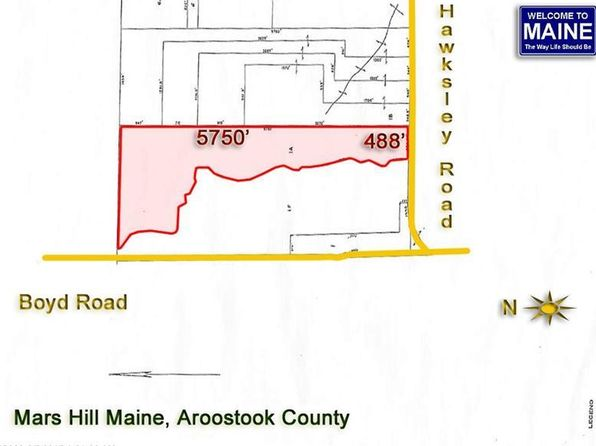 null bed null bath Vacant Land at  Hawksley Rd Mars Hill, ME, 04758 is for sale at 55k - 1 of 3