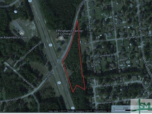 null bed null bath Vacant Land at 0 Ga Hwy 21 & West 3rd St Springfield, GA, 31329 is for sale at 50.00m - google static map