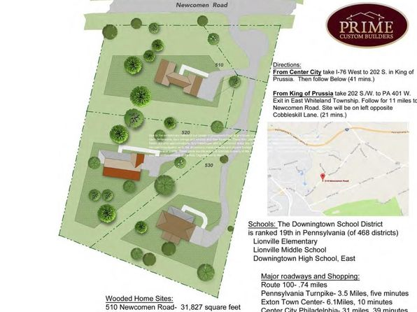 4 bed null bath Vacant Land at 510 Newcomen Rd Exton, PA, 19341 is for sale at 875k - google static map