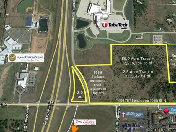 null bed null bath Vacant Land at  Hwy 169 106th St N Owasso, OK, 74055 is for sale at 1.00m - google static map