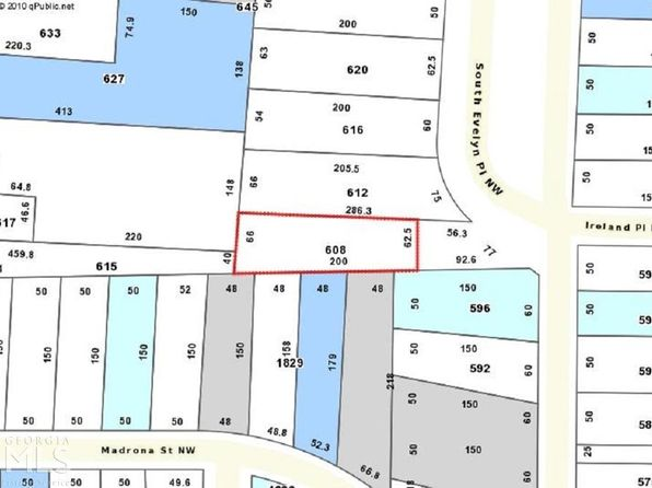 null bed null bath Vacant Land at 608 S Evelyn Pl NW Atlanta, GA, 30318 is for sale at 65k - google static map