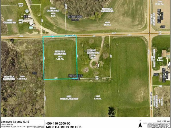 null bed null bath Vacant Land at 14000 Cadmus Rd Hudson, MI, 49247 is for sale at 12k - google static map
