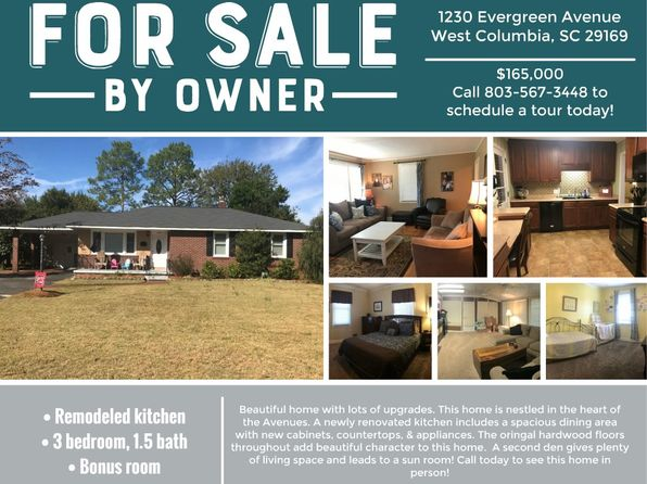 3 bed 2 bath Single Family at 1230 Evergreen Ave West Columbia, SC, 29169 is for sale at 165k - 1 of 11