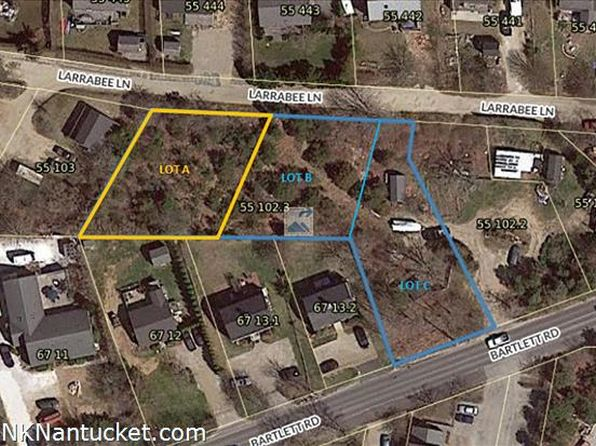 null bed null bath Vacant Land at  Larrabee Ln Nantucket, MA, 02554 is for sale at 495k - google static map
