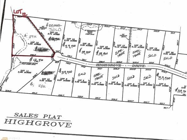 null bed null bath Vacant Land at 0 Highgrove Dr Zebulon, GA, 30295 is for sale at 29k - google static map