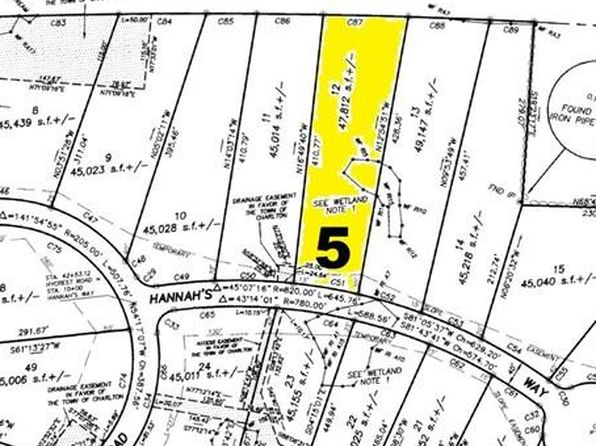 null bed null bath Vacant Land at 5 Hannahs Way Charlton, MA, 01507 is for sale at 50k - 1 of 18