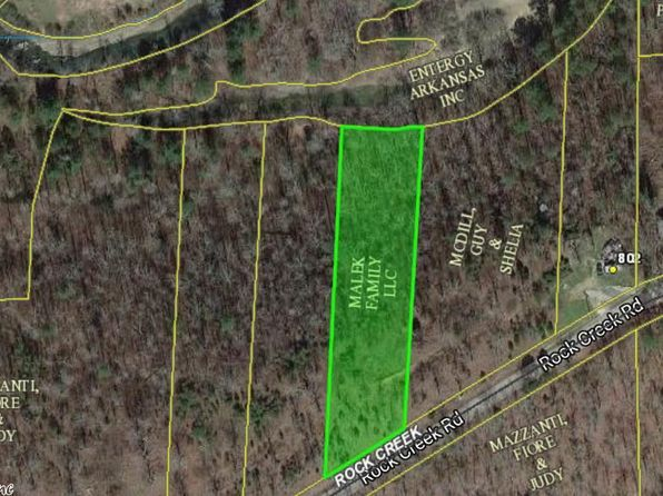 null bed null bath Vacant Land at 0 Rock Creek Rd Hot Springs, AR, 71913 is for sale at 40k - google static map