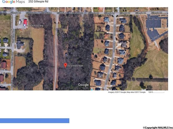 null bed null bath Vacant Land at 252 Gillespie Rd Madison, AL, 35758 is for sale at 125k - google static map