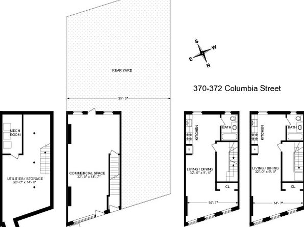 null bed 2 bath Multi Family at 370-372 Columbia St Brooklyn, NY, 11231 is for sale at 1.60m - google static map