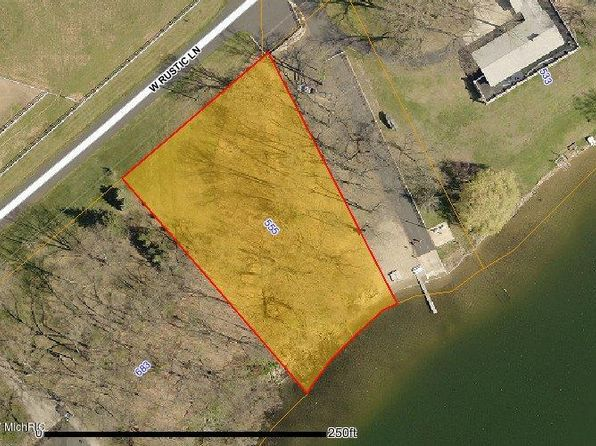 null bed null bath Vacant Land at 555 RUSTIC LN VICKSBURG, MI, 49097 is for sale at 220k - google static map