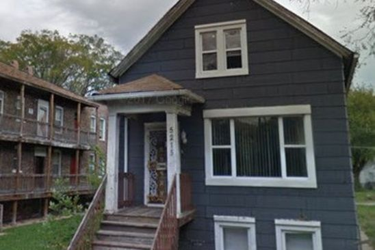 4 bed 2 bath Single Family at 5215 S Racine Ave Chicago, IL, 60609 is for sale at 62k - google static map