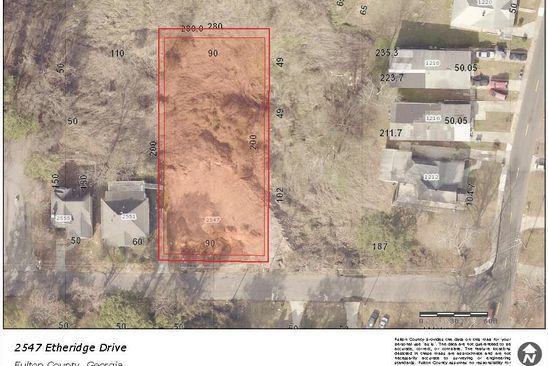 3 bed null bath Vacant Land at 2547 ETHERIDGE DR NW ATLANTA, GA, 30318 is for sale at 25k - google static map