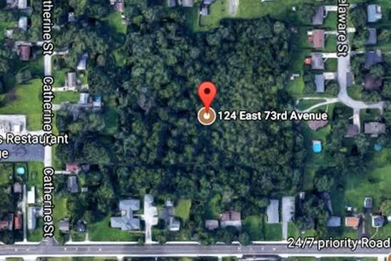 0 bed null bath Vacant Land at 124 E 73rd Ave Merrillville, IN, 46410 is for sale at 50k - google static map