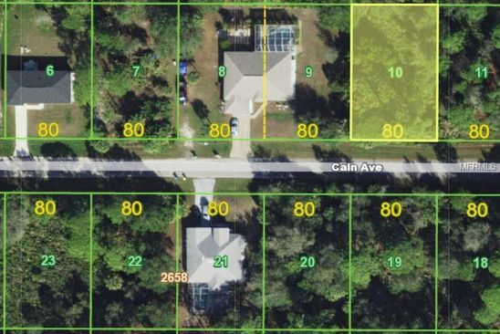 null bed null bath Vacant Land at 14156 Cain Ave Port Charlotte, FL, 33953 is for sale at 7k - google static map