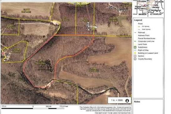 null bed null bath Vacant Land at 0 Road Silex, MO, 63377 is for sale at 97k - google static map