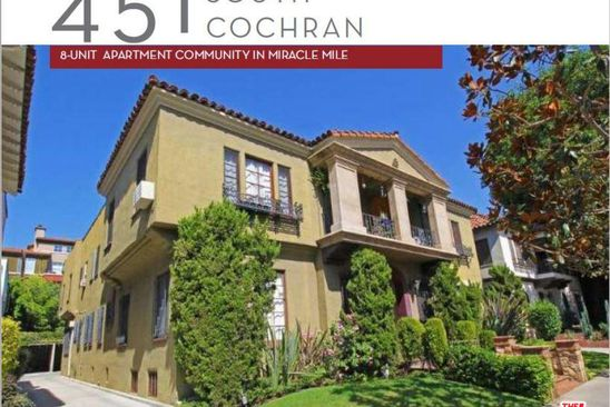 8 bed 8 bath Single Family at 451 S Cochran Ave Los Angeles, CA, 90036 is for sale at 3.48m - google static map