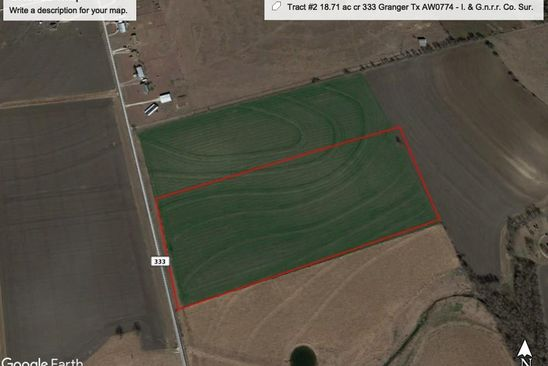 null bed null bath Vacant Land at  Tbd Tract Granger, TX, 76530 is for sale at 187k - google static map