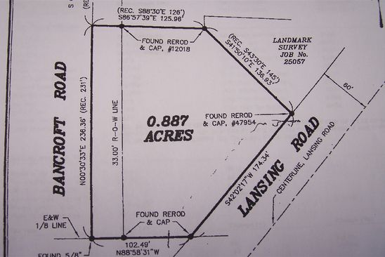 null bed null bath Vacant Land at 4637 E Lansing Rd Bancroft, MI, 48414 is for sale at 19k - google static map