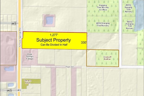 null bed null bath Vacant Land at 2501 Rock Springs Rd Apopka, FL, 32712 is for sale at 650k - google static map