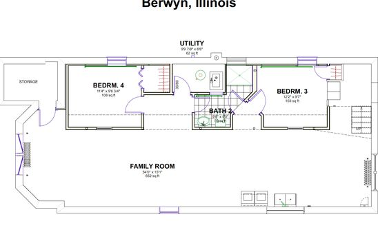 5 bed 2 bath Single Family at 1429 Maple Ave Berwyn, IL, 60402 is for sale at 315k - google static map