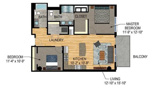 2 bed 2 bath Condo at 1240 S 2nd St Minneapolis, MN, 55415 is for sale at 390k - google static map