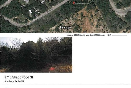 null bed null bath Vacant Land at 2713 S Shadowood St Granbury, TX, 76048 is for sale at 2k - google static map