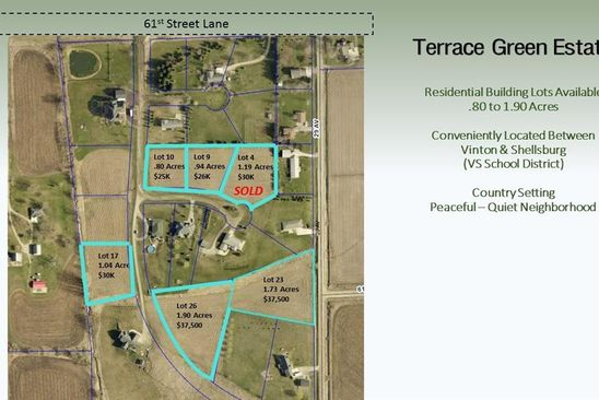 null bed null bath Vacant Land at  Terrace Green Ests Vinton, IA, 52349 is for sale at 30k - google static map