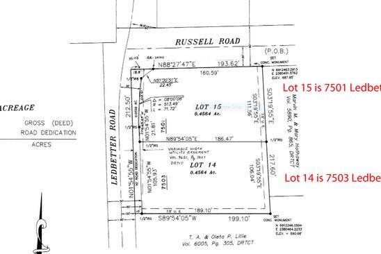 4 bed null bath Vacant Land at 7501 LEDBETTER RD ARLINGTON, TX, 76001 is for sale at 100k - google static map