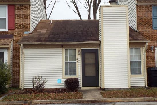 2 bed 1 bath Townhouse at 1657 JAMESON DR VIRGINIA BEACH, VA, 23464 is for sale at 125k - google static map