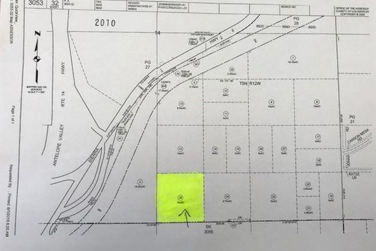 null bed null bath Vacant Land at 0 Vac/Vic Carson Mesa Rd/Rough Rd Palmdale, CA, 93550 is for sale at 49k - google static map