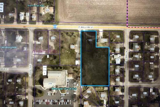 null bed null bath Vacant Land at 703 E Willow St Harrisburg, SD, 57032 is for sale at 110k - google static map