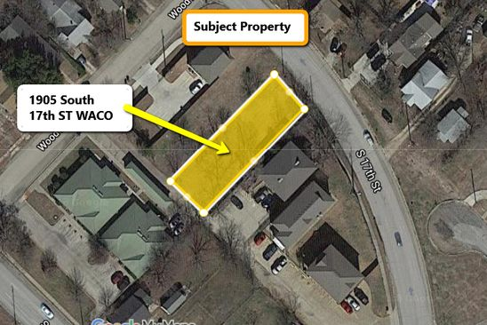 null bed null bath Vacant Land at 1905 S 17TH ST WACO, TX, 76706 is for sale at 42k - google static map