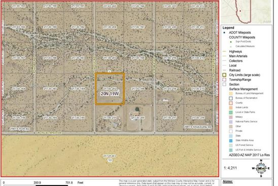 null bed null bath Vacant Land at 2948 Yaqui Rd Golden Valley, AZ, 86413 is for sale at 9k - google static map