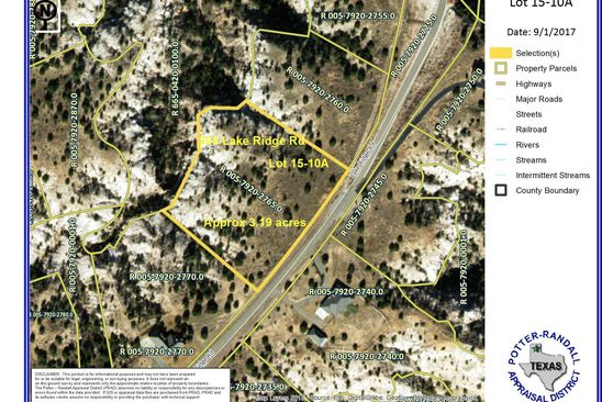 null bed null bath Vacant Land at 308 Lake Ridge Rd Amarillo, TX, 79118 is for sale at 78k - google static map
